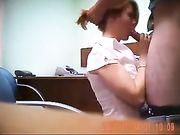 Oral Sex und Sex im Büro mit dem Chef